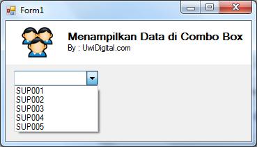 VB.Net - Menampilkan Data di Combo Box