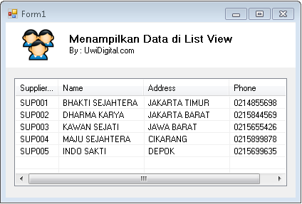VB.Net - Menampilkan Data di List View